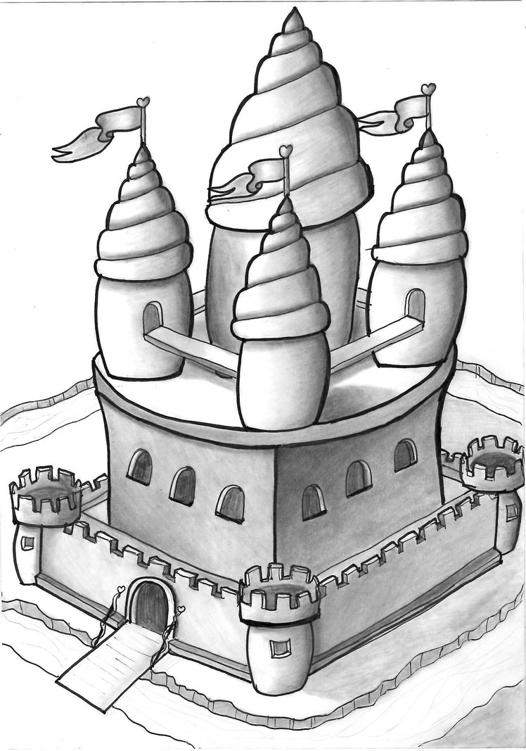 a castle drawing 3d castle drawing at getdrawings free download a castle drawing