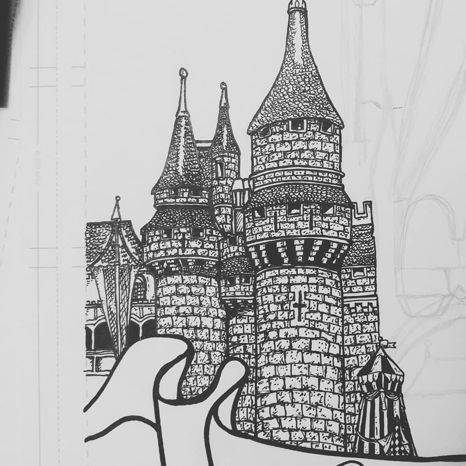 a castle drawing arch at boldt castle drawing by murphy elliott castle a drawing