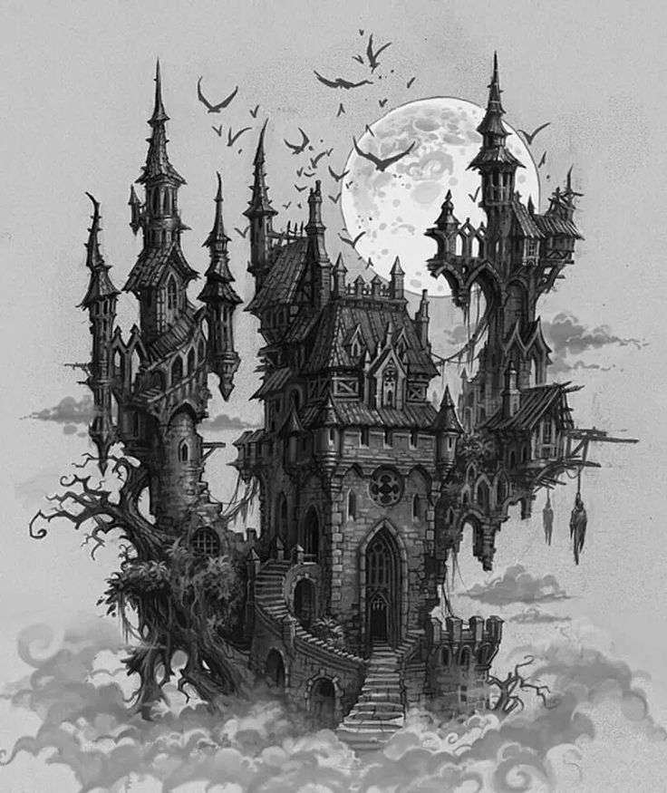 a castle drawing creepy castle drawing at paintingvalleycom explore a drawing castle