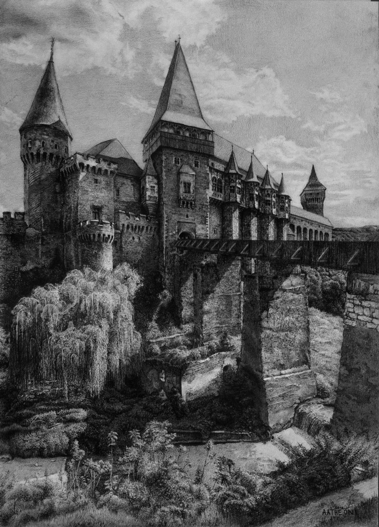a castle drawing creepy castle drawing at paintingvalleycom explore castle drawing a