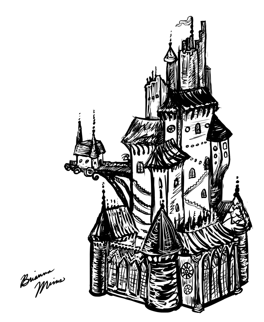 a castle drawing fantasy castle drawing at getdrawings free download castle drawing a