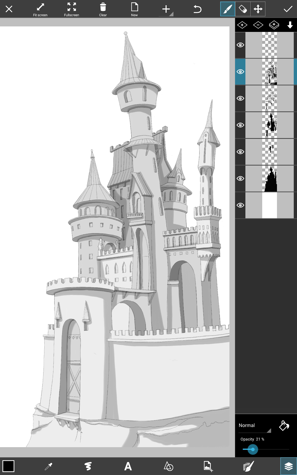 a castle drawing how to draw a castle using picsart drawing tools create drawing castle a
