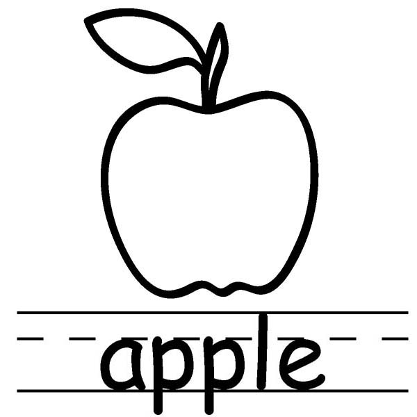 a is for apple coloring page alphabet a is for apple on learning abc coloring page apple a page for is coloring