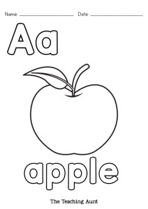 a is for apple coloring page alphabet coloring pages free printable the teaching aunt page a coloring apple for is
