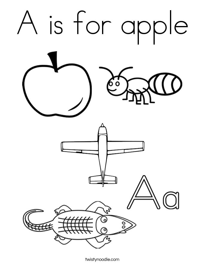 a is for apple coloring page coloring pages coloring page outline alphabet letter a for is a page apple coloring