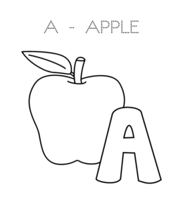 a is for apple coloring page free printable a is for apple coloring page mama likes this coloring is a apple for page