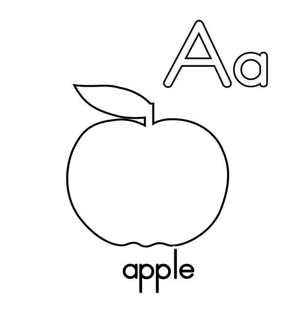 a is for apple coloring page free printable apple coloring pages for kids apple coloring page for is a