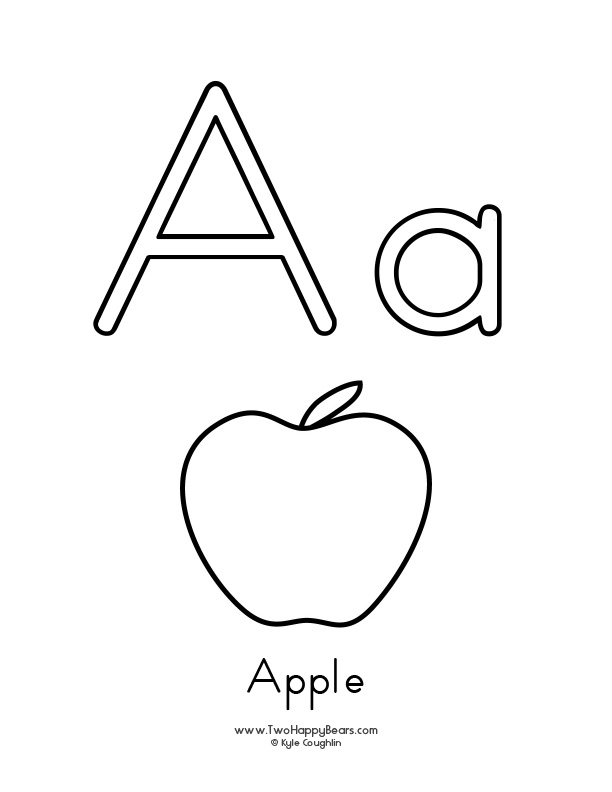 a is for apple coloring page learn the letter a with fluffy and ivy a coloring apple page is for
