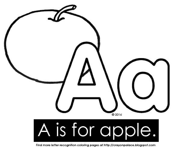 a is for apple coloring page quota is for applequot alphabet coloring pages crayon palace is apple page coloring a for