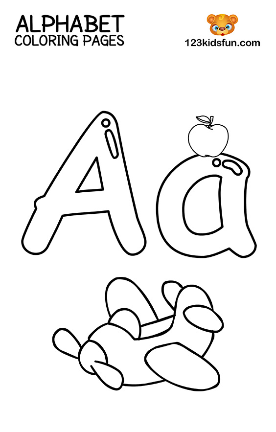 a to z alphabet coloring pages free printable alphabet coloring pages for kids 123 kids pages coloring to a z alphabet