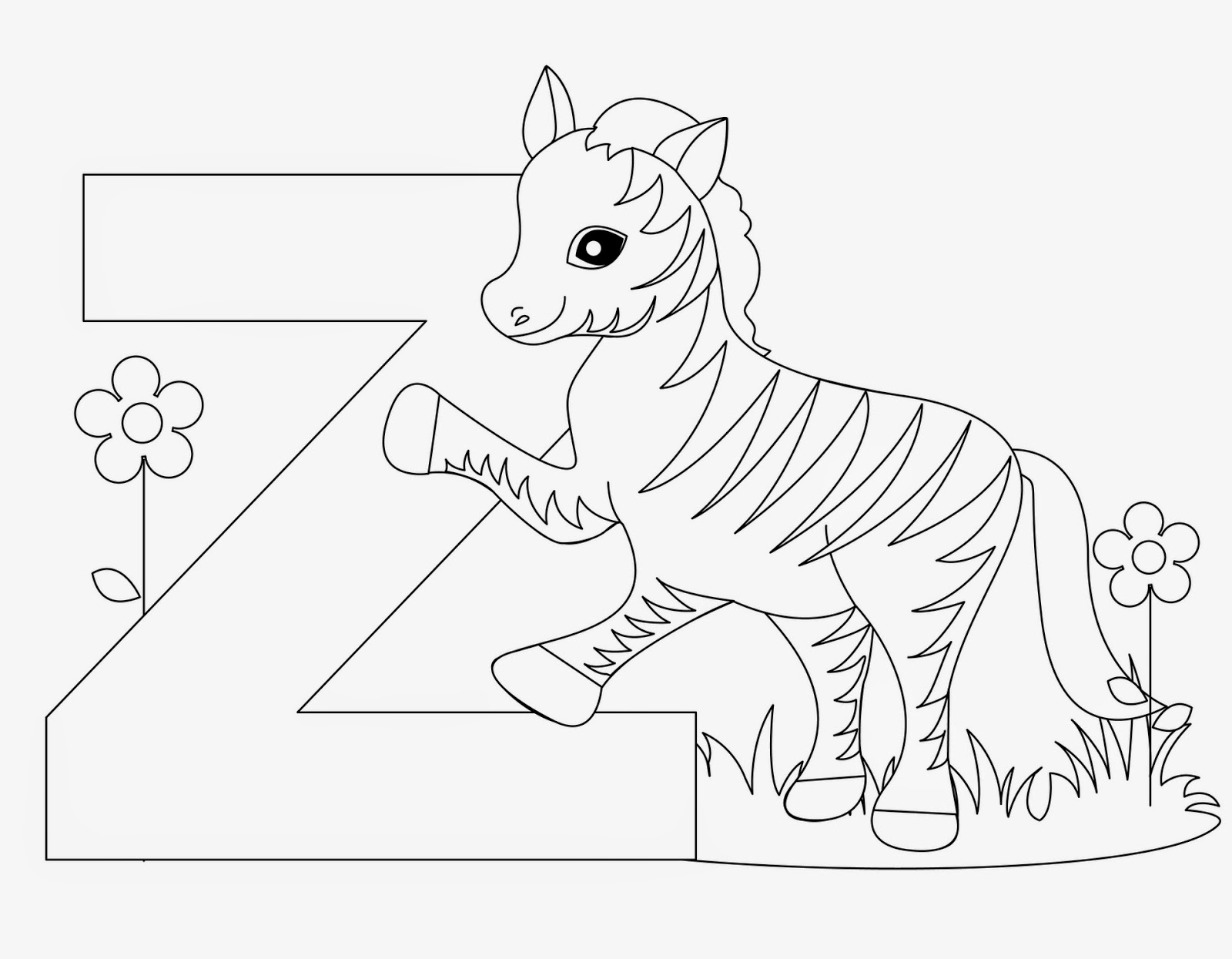 a to z alphabet coloring pages kids page z is for zebra animal alphabet letters worksheet a z alphabet pages to coloring