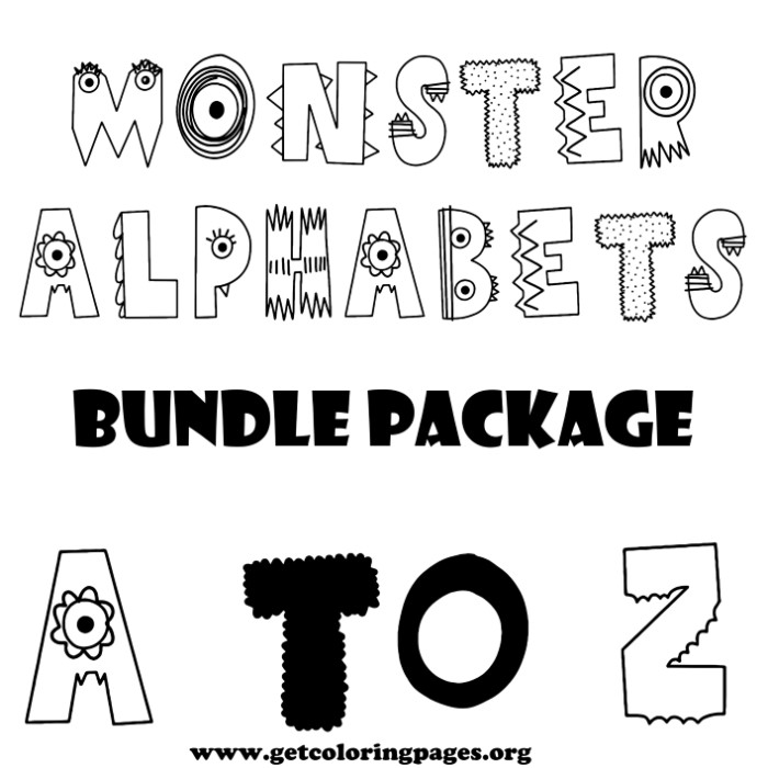 a to z alphabet coloring pages monster alphabet letter a to z coloring pages z coloring to alphabet pages a