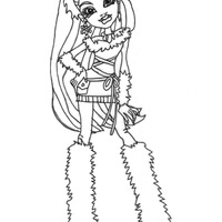 abbey bominable abbey bominable coloring page free monster high coloring abbey bominable