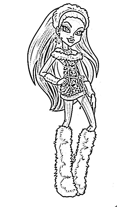abbey bominable abbey bominable from monster high coloring page color abbey bominable