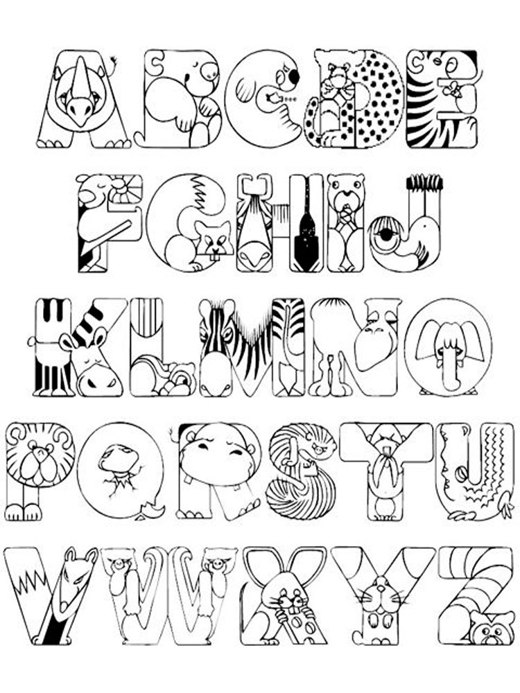abc alphabet coloring sheets alphabet with funny letters coloring pages coloring home sheets abc coloring alphabet