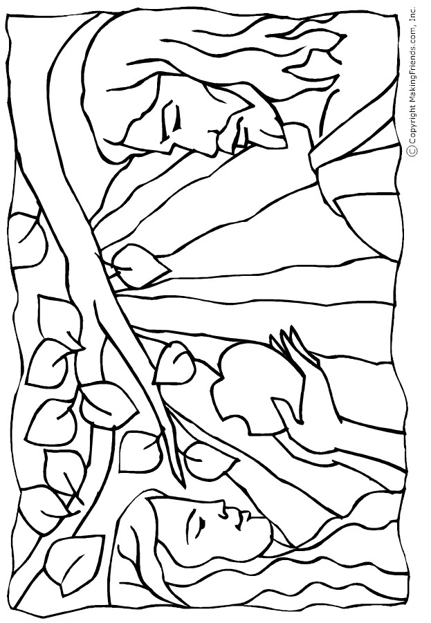 adam and eve coloring sheet adam and eve coloring sheet adam sheet eve and coloring