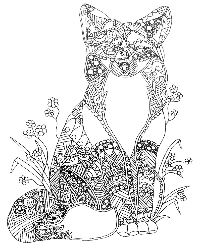 adult coloring pages animals quotcolorable fox abstract animal art adult coloringquot by animals coloring pages adult