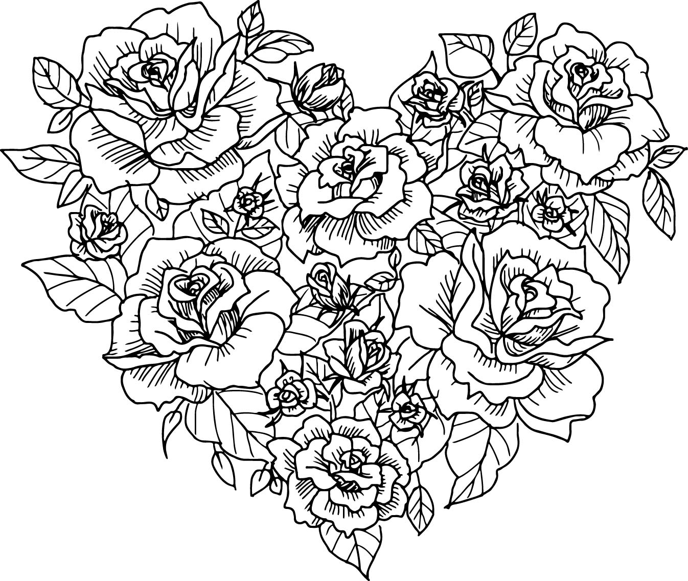 adult coloring pages roses heart rose sketch coloring page wecoloringpagecom adult coloring pages roses