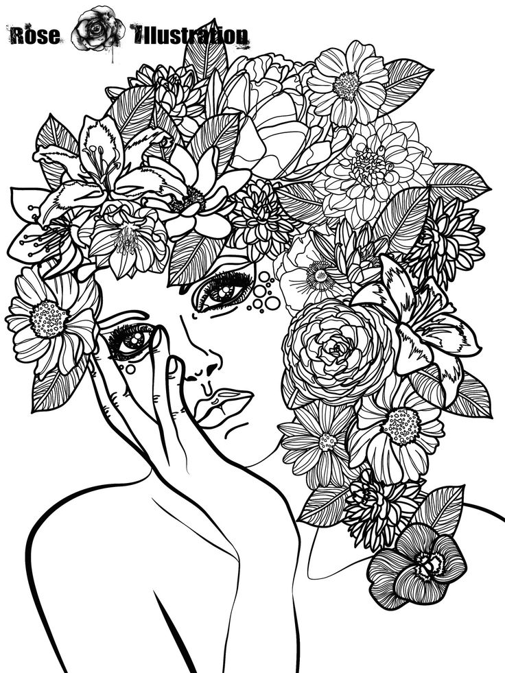 adult coloring pages roses rose illustration photo adult coloring pages rose coloring roses adult pages