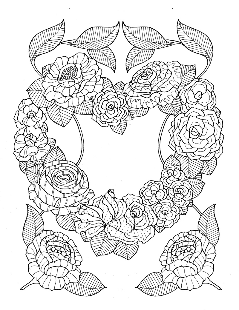 adult coloring pages roses roses printable adult coloring page from favoreads roses coloring adult pages