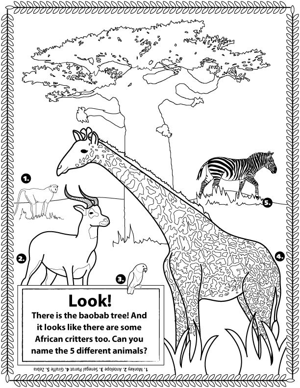 africa animals coloring pages african animals doubles as a coloring page african coloring africa animals pages