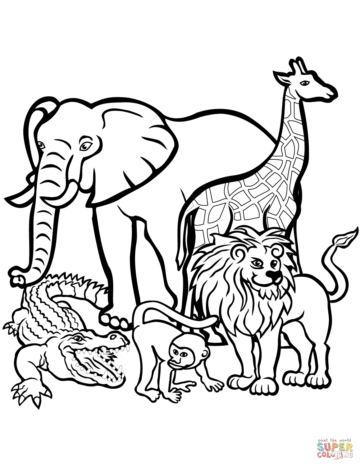 Africa animals coloring pages