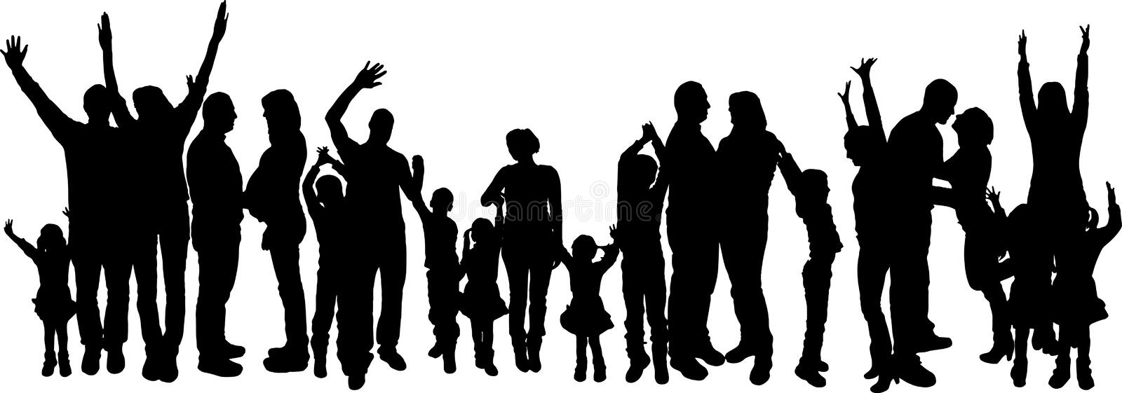 african american family silhouette barbecue party silhouette stock illustration download african family american silhouette