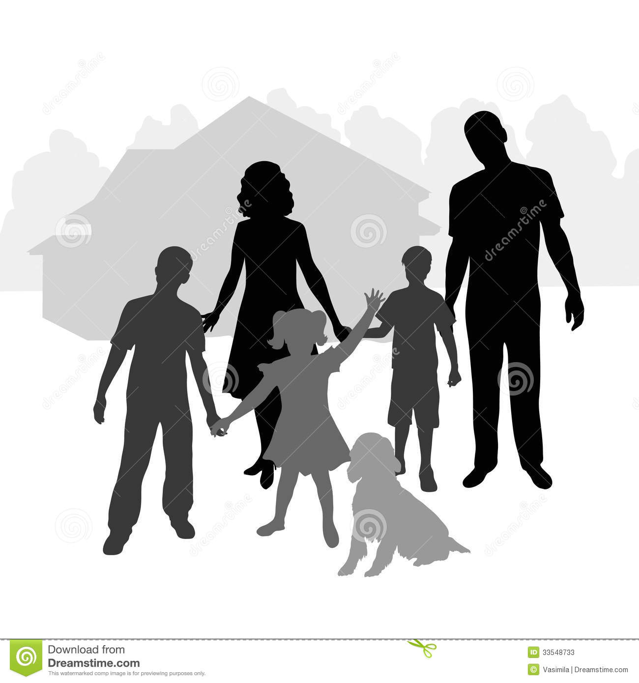 african american family silhouette big family stock photos image 33548733 american african family silhouette