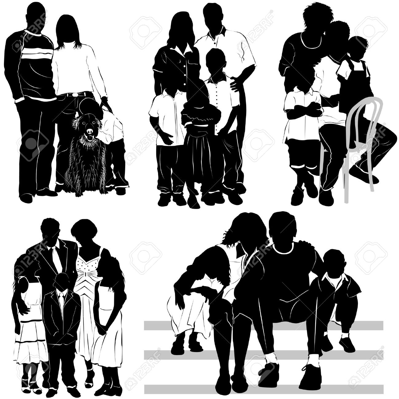 african american family silhouette black family reunion clip art clipartsco family african silhouette american