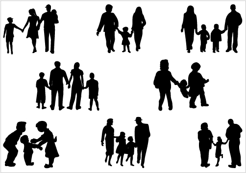 african american family silhouette family of four silhouette clip art library african family american silhouette