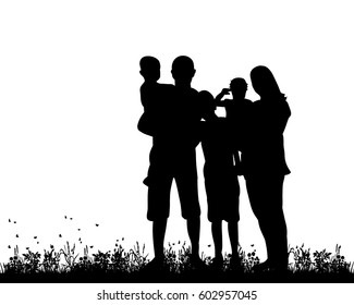 african american family silhouette family silhouette images stock photos vectors silhouette american family african