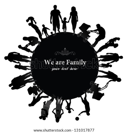 african american family silhouette family silhouette stock images royalty free images silhouette family american african