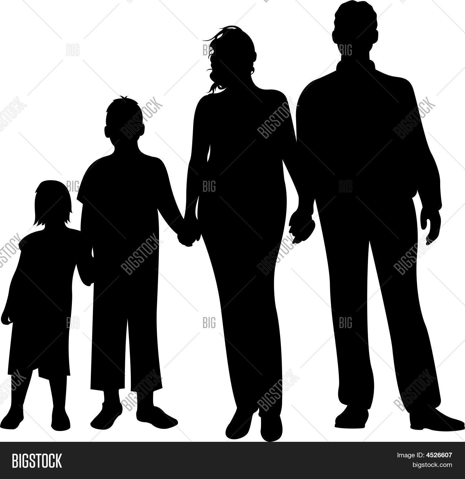 african american family silhouette family silhouette vector vector photo bigstock american african silhouette family