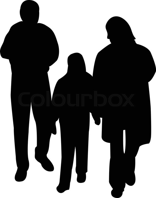 african american family silhouette illustration of family silhouette stock vector silhouette african family american