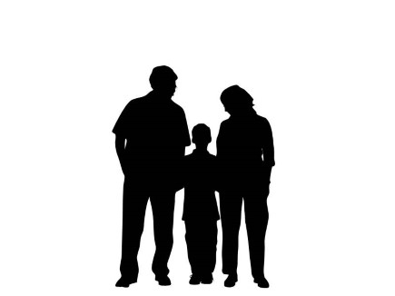 african american family silhouette presentationpro silhouette family standing 04 african family silhouette american