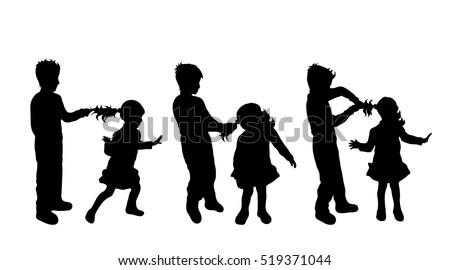 african american family silhouette vector illustration silhouettes siblings on white stock american family african silhouette