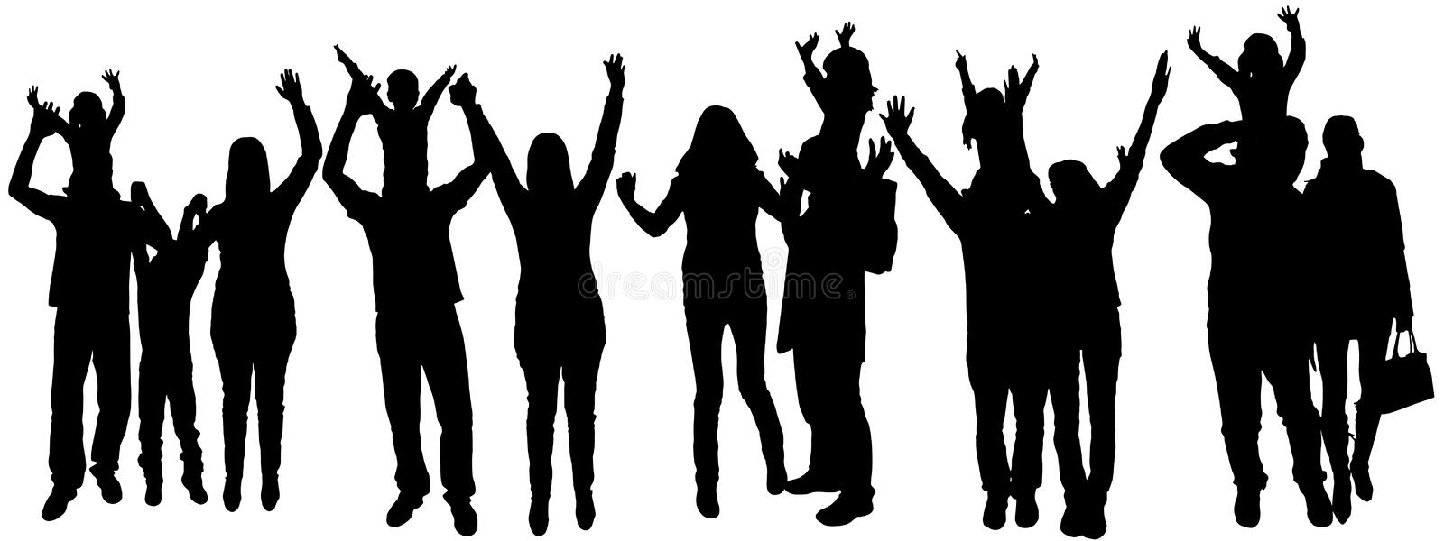 african american family silhouette vector illustration with family silhouettes stock vector silhouette family american african