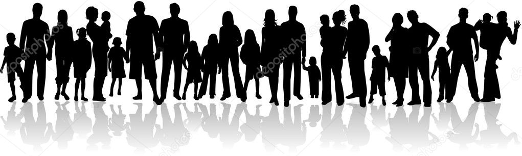 african american family silhouette vector silhouette family stock vector pablonis 2054095 african silhouette american family