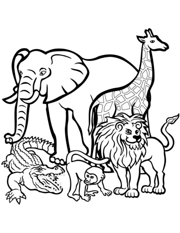 african animals printables african animals coloring pages coloring pages for kids african animals printables