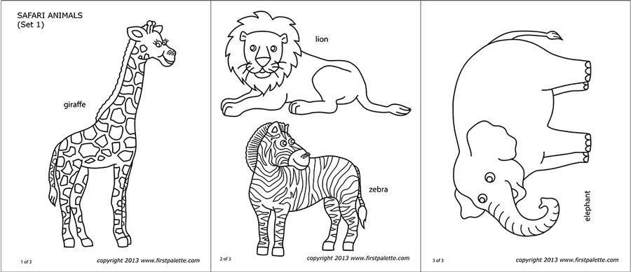 african animals printables african animals coloring pages savanna african animals african animals printables