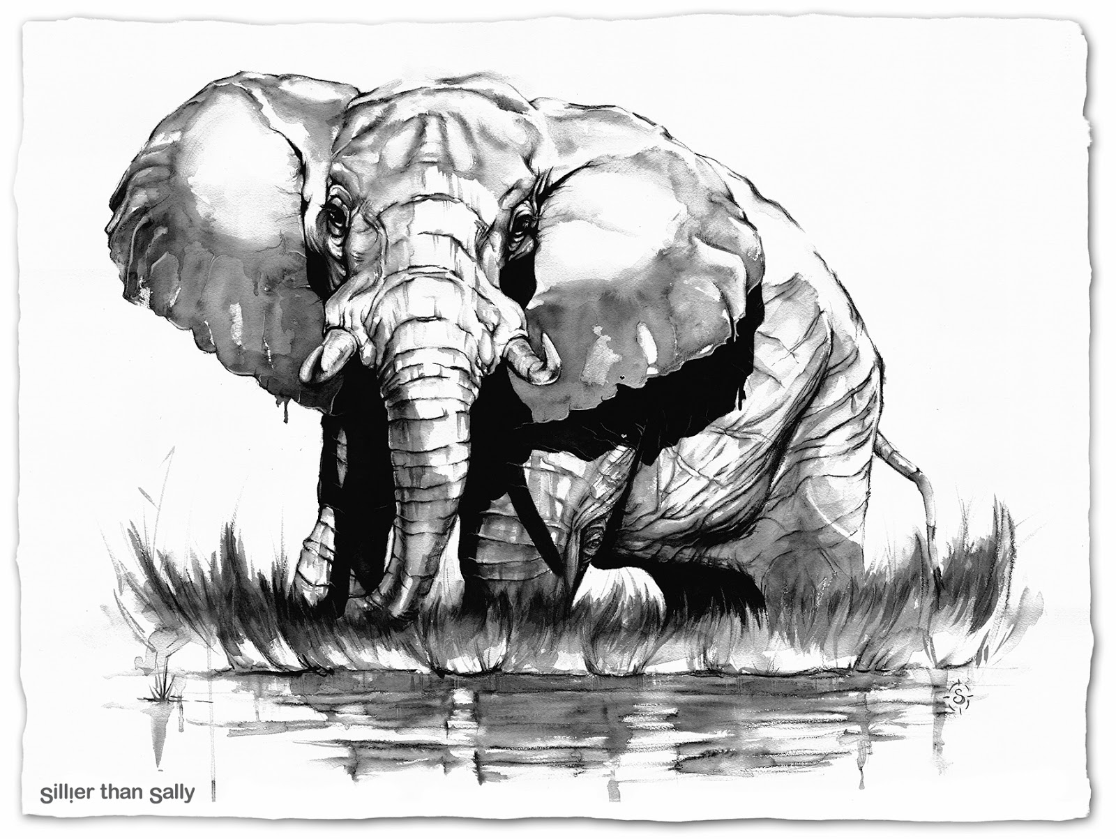 african elephant drawing art for hearts sake an auction of love and protection african drawing elephant