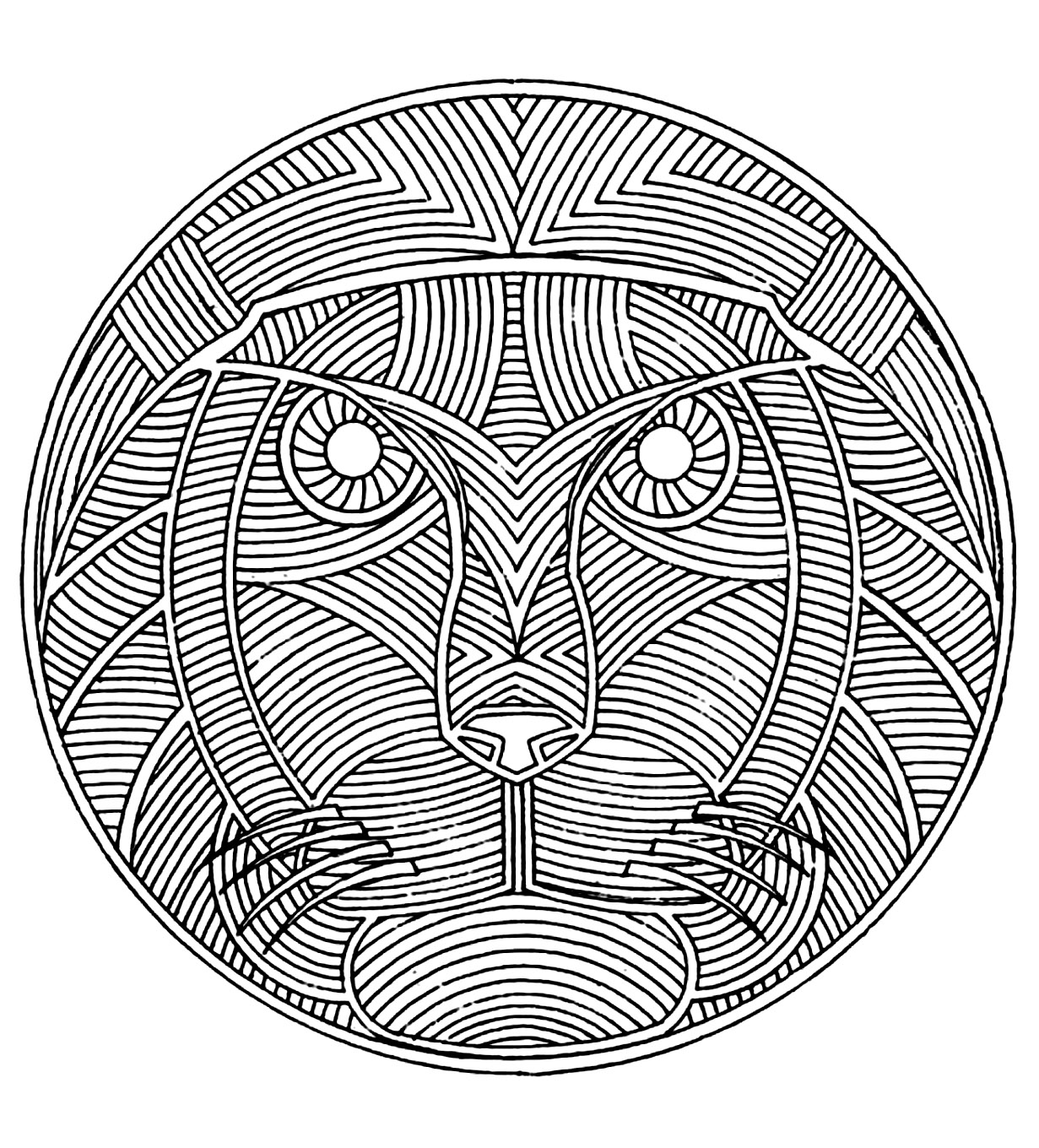 African mandala coloring pages