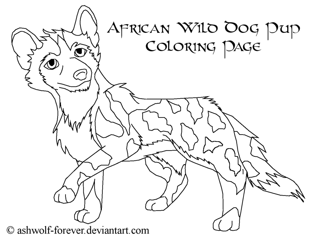 african wild dog coloring page african wild dog coloring page animals town animal african wild page coloring dog