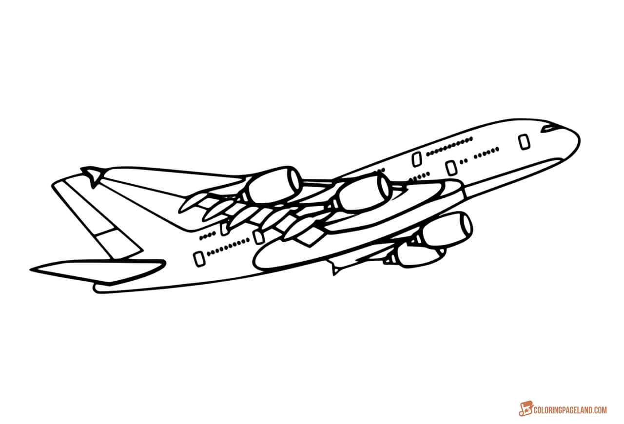airbus a380 coloring pages airbus a380 colouring page thumbnail image airplane airbus a380 pages coloring