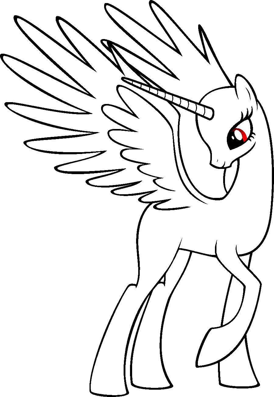 alicorn mlp coloring page alicorn twilight sparkle lineart by thatoneblondechick09 alicorn mlp coloring page