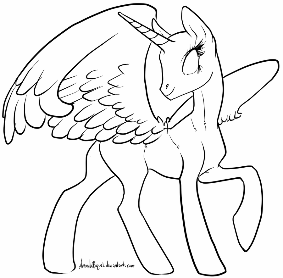 Alicorn mlp coloring page