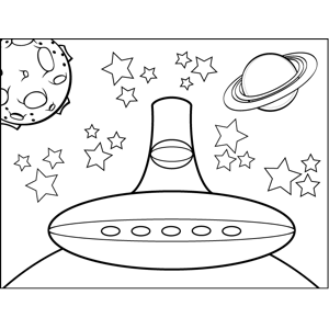 alien spaceship coloring pages trippy space alien flying saucer and planets coloring coloring spaceship pages alien