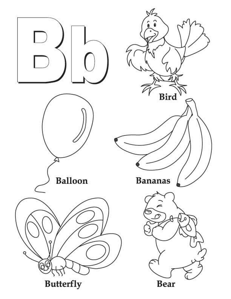 alphabet b coloring pages letter b coloring pages preschool and kindergarten coloring pages b alphabet