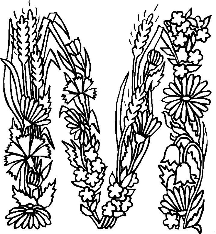alphabet coloring pages free alphabet flower coloring pages download and print for free coloring pages alphabet free