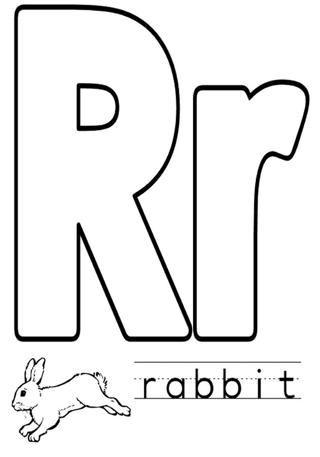 alphabet coloring pages r letter r coloring pages to download and print for free r alphabet pages coloring